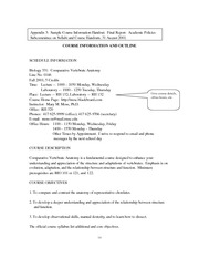 Syllabus Rpts - Course Information and Outline