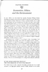 Chapter 17 Economics, Ethics, and the Environment Part1
