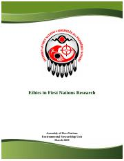Ethics in First Nations Research - Assembly of First Nations.pdf