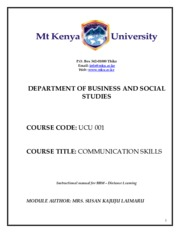 UCU 001communication skills