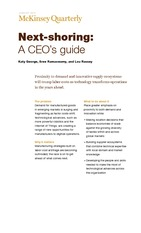 Reading for Apr10_Next Shoring-A CEOs Guide_McKinsey_Jan-2014