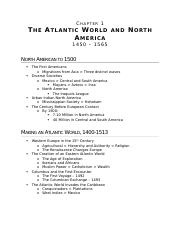 (Ch 1) The Atlantic World and North America