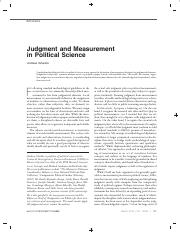 Judgment and Measurement in Political Science.pdf