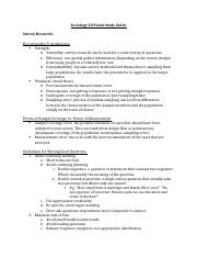 Sociology 20 Finals Study Guide
