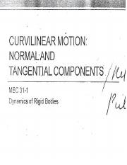 Curvilinear Motion - Normal and Tangential Components.pptx