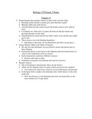 Biology 123 Exam 3 Notes