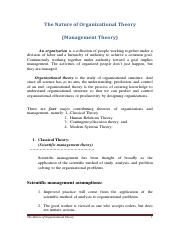 3._The_Nature_of_Organizational_Theory