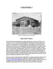 Chapter 2- The New West