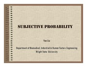 Lecture Notes on Subjective Probability