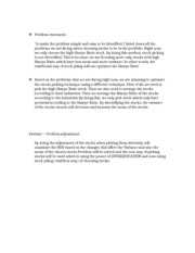 Problem statement paragraph 121