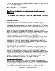Solution Manual for Business to Business Marketing IM