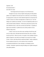 Environmental Studies 2-Essay
