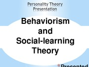PSY 230 Week 2 Personality Theory Presentation