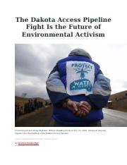 The Dakota Access Pipeline Fight Is the Future of Environmental Activism.docx