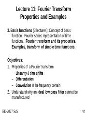 Fourier Properties