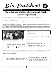 207 How Science Works - Meselson and Stahl's Classic Experiment