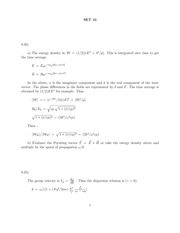 Problem Set 10 Solution on Classical Electrodynamics