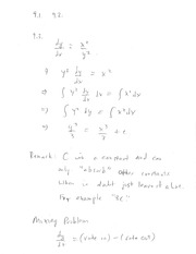 MATH 109 Chapter 9 and 10 Review Notes