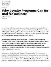 Why Loyalty Programs Can Be Bad for Business
