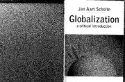 Jan Aart Scholte - Globalization - A Critical Introduction
