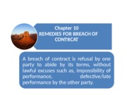 Chapter 10_Breach of Contract