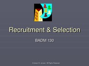 Recruitment & Selection students