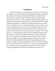 overcoming essay words throughout high school i have been  1 pages wrestling essay 300 words