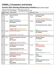 CS4001_C_Summer+2014+Schedule_MW_v1