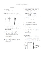 MAT 129 - PRECALCULUS - TESC - WRITTEN ASSIGNMENT #1