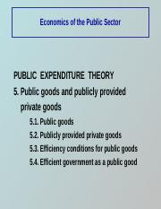 Public expenditure theory 2
