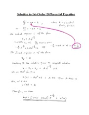 Solution to 1st-Order Differential Equation-1