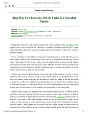 May Day Celebration (1961)_ Cuba is a Socialist Nation