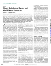 Global Hydrological Cycles