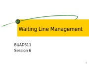 Session 6 Waiting Line Management