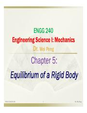 Chapter 5 Equilibrium of a rigid Body
