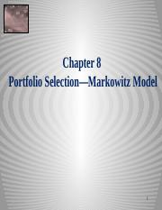 Equity Chapter 08 Markowitz Portfolio Selection 2014 sj.pptx