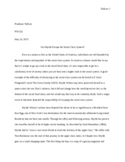 Social Class Research Paper