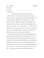 Reaction Essay Concerning the Various Expositions of Plot