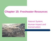 ES Chapter 15 Freshwater resources with pictures