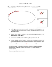 Recitation Worksheet E Solutions