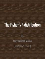 18.The Fisher_s F-distribution and F-Test