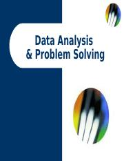 Data Analysis & Problem Solving