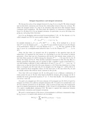 Integral dependence and integral extensions