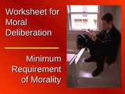 Worksheet for Moral Deliberation
