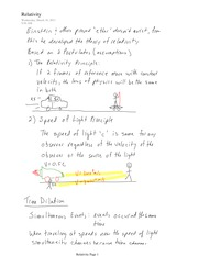 PHYS 11 Relativity Notes