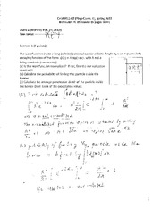 Phys chem II CHM4411 Exam 2 Solutions