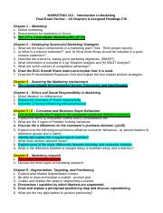 Final Review outline F15
