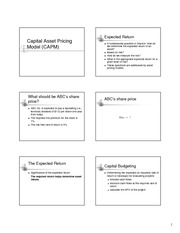 CAPM Overview Slides
