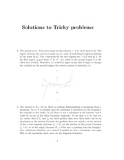 Solutions to Tricky Problems