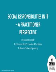 Week 9 - Guest Lecture - Social Responsibility in IT